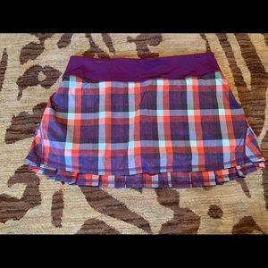 Lululemon purple plaid pacesetter skirt